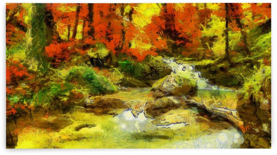 Autumn oil painting in Vincent Willem van Gogh style. 1 by ArtEastWest