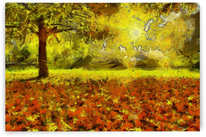 Autumn oil painting in Vincent Willem van Gogh style. 4 by ArtEastWest