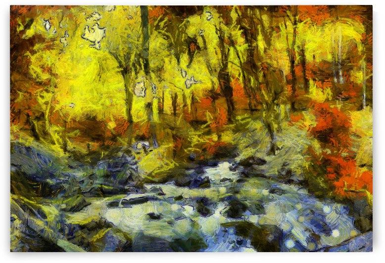 Autumn oil painting in Vincent Willem van Gogh style. 2 by ArtEastWest
