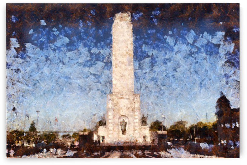 Argentina National Flag Memorial oil painting in oil painting in Frank Weston Benson style style. 3 by ArtEastWest