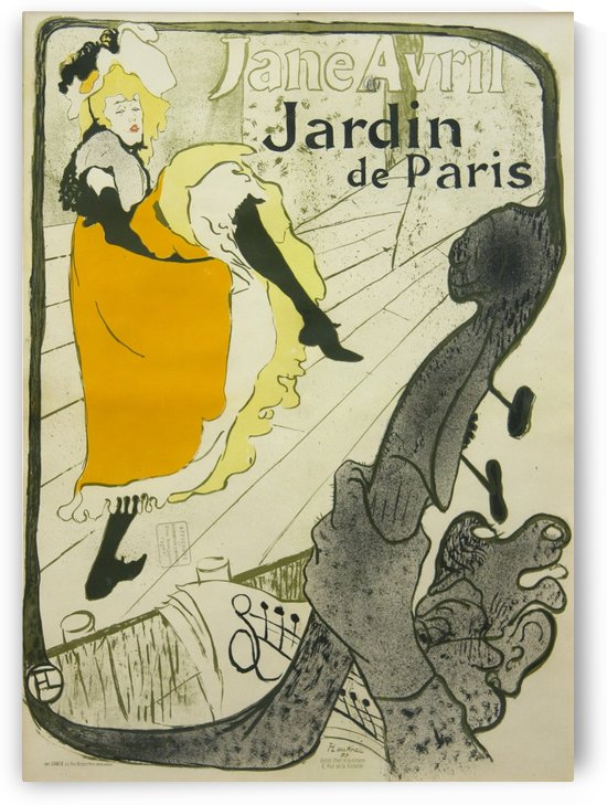 Jane Avril - Jardin de Paris by VINTAGE POSTER