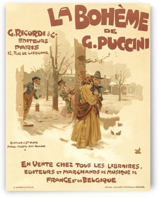 La Boheme by VINTAGE POSTER