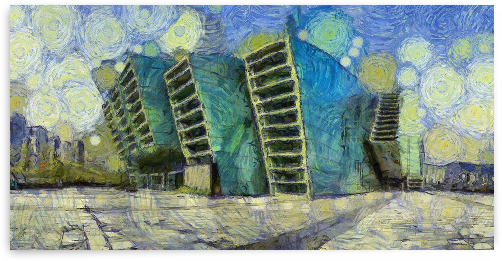 CHINA Chongqing Grand Theatre oil painting in oil painting in Vincent van Gogh style. 114 by ArtEastWest