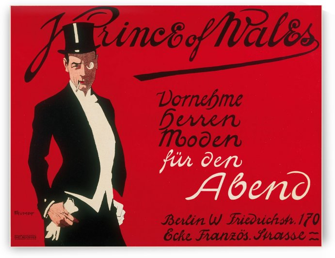 Prince of Wales Original Vintage Poster by VINTAGE POSTER