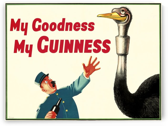 My Goodness My Guinness Original Vintage Poster by VINTAGE POSTER