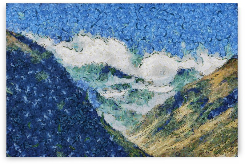 Mountains oil painting in Vincent van Gogh style. 1003 by ArtEastWest