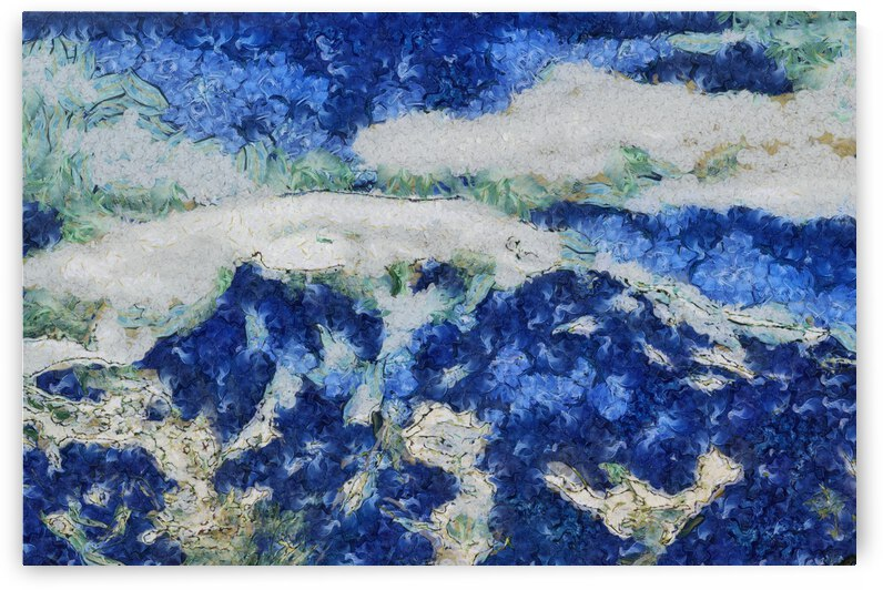 Mountains oil painting in Vincent van Gogh style. 1002 by ArtEastWest