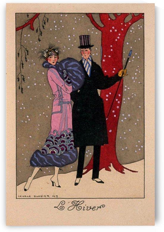 Le Hiver 1919 Original Vintage Poster by VINTAGE POSTER