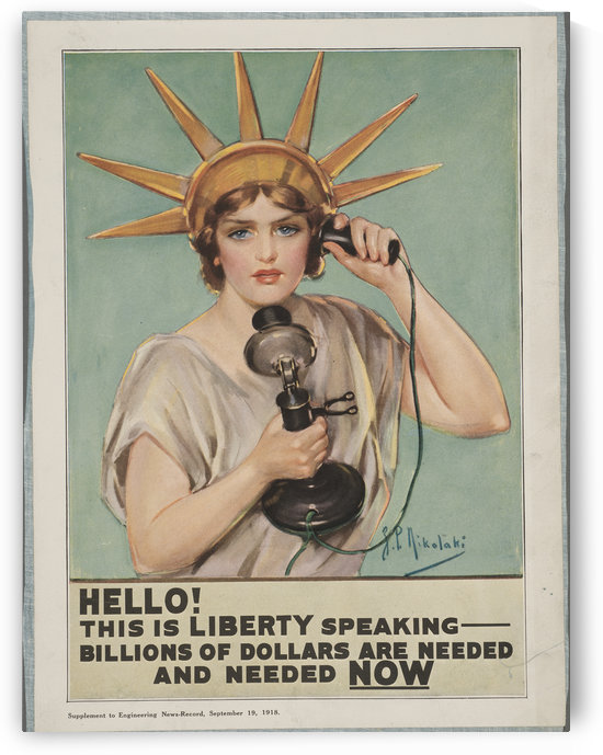 Hello, this is Liberty speaking by VINTAGE POSTER
