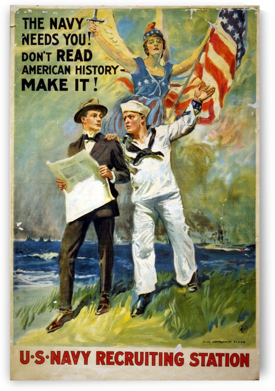 Navy needs you by VINTAGE POSTER