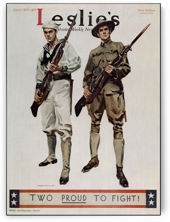 Two proud to fight original vintage poster by VINTAGE POSTER