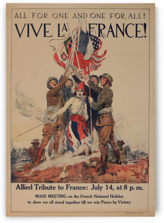 Vive La France Original Vintage Poster by VINTAGE POSTER