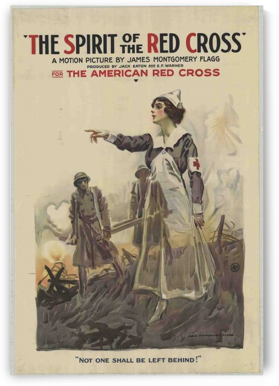 The Spirit of the Red Cross by VINTAGE POSTER