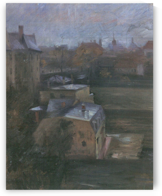 View from the studio in Munich by Lovis Corinth by Lovis Corinth