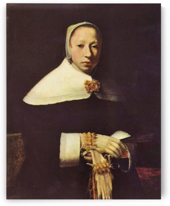 Women s portrait by Vermeer by Vermeer