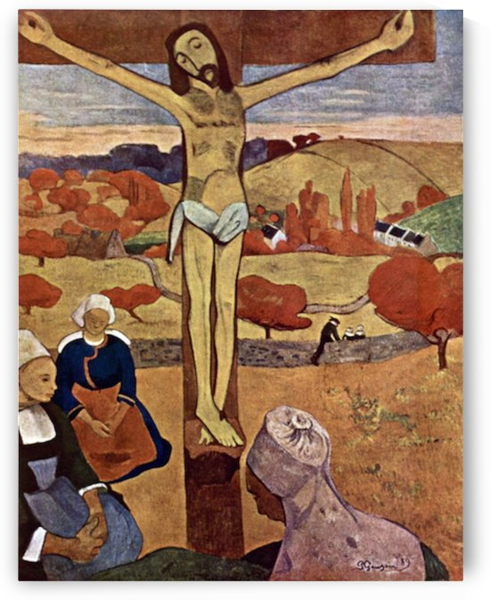 Yellow Christ by Gauguin by Gauguin