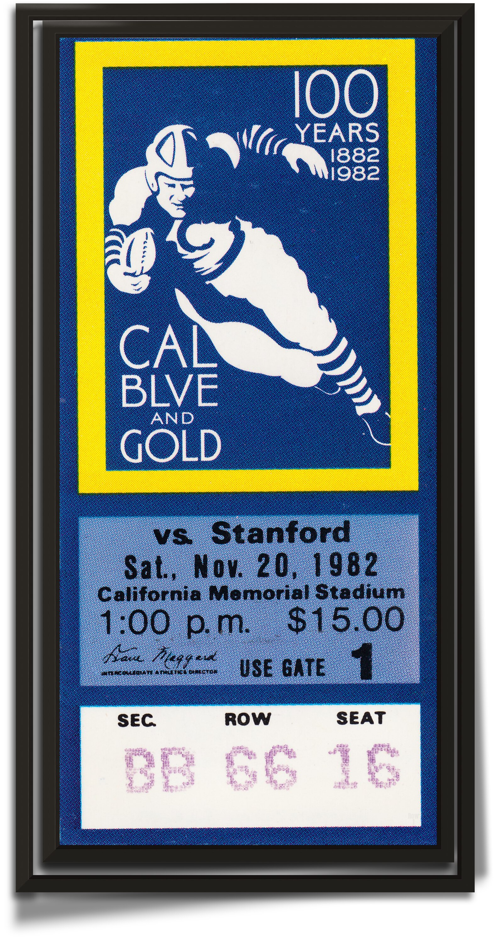 1982 Cal vs. Stanford The Play by Row One Brand