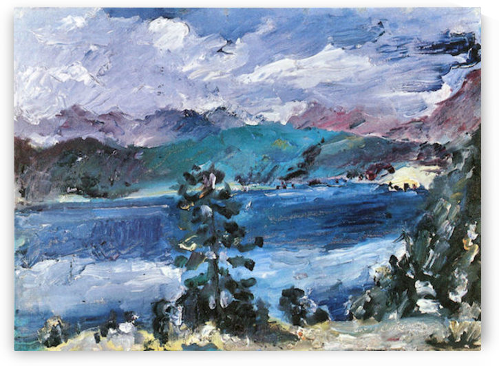 Walchensee with larch by Lovis Corinth by Lovis Corinth