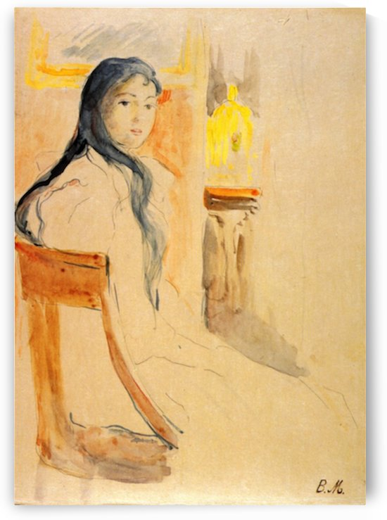 Young girl resting by Morisot by Morisot