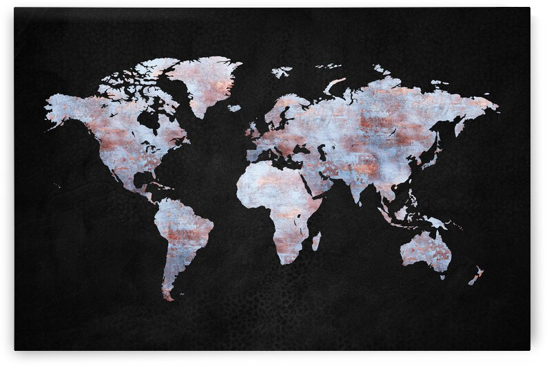 Artistic World Map XII by Art Design Works