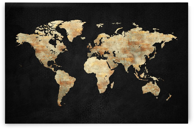 Artistic World Map XIII by Art Design Works