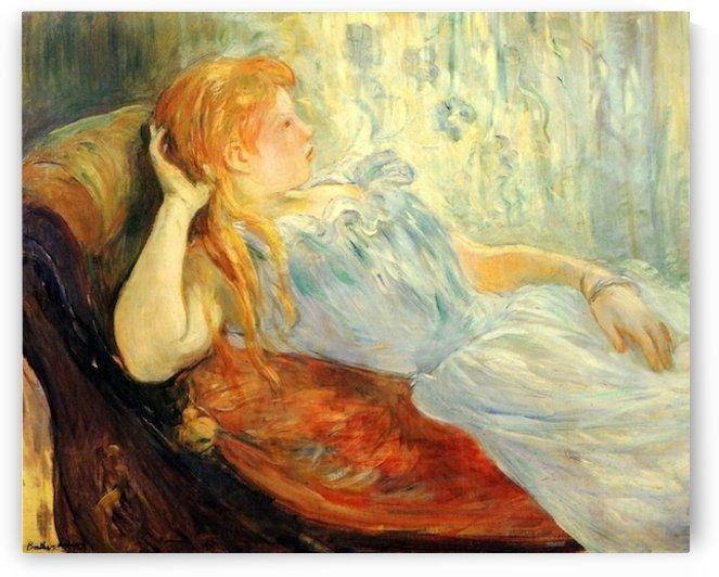 Young girl resting -2- by Morisot by Morisot