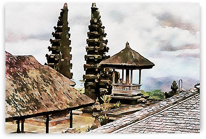 Balinese Temple 5 by Dorothy Berry-Lound
