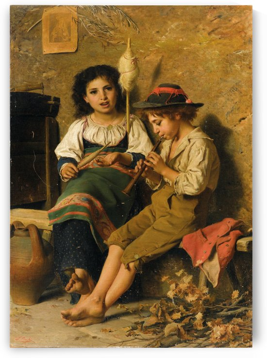 Spinner and flutist by Luigi Bechi