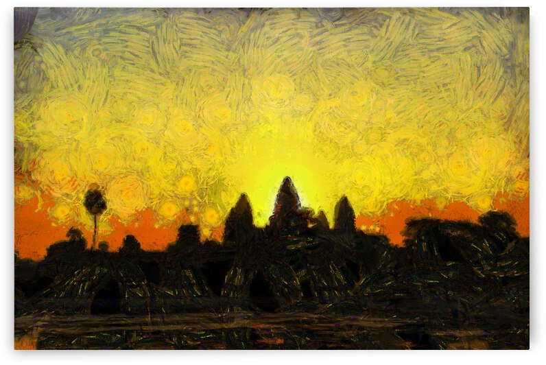 CAMBODIA 136 Angkor Wat  Siem Reap VincentHD by Cambodia painting
