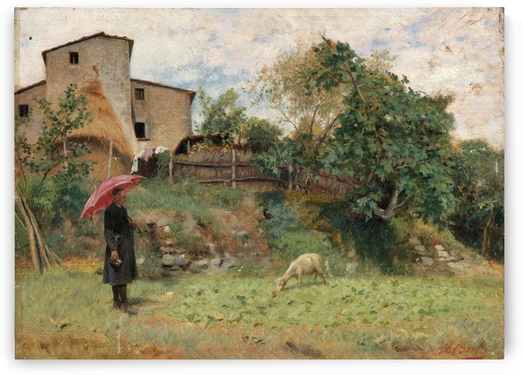 Betrachtung des Schafchens by Luigi Bechi