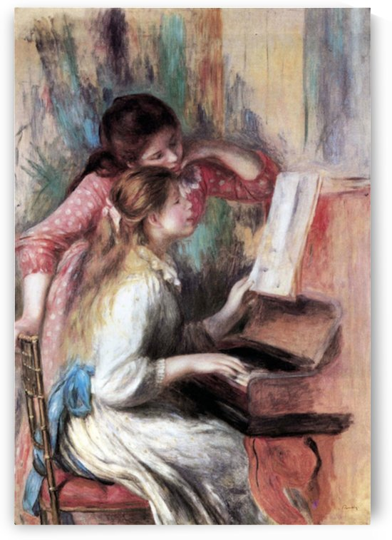 Young girls at the piano -1- by Renoir by Renoir