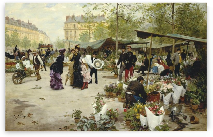The Lower Market, Paris, 1881 by Victor Gilbert