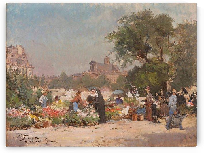 Marche aux Fleurs a Paris by Victor Gilbert