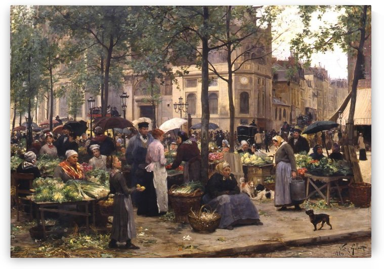 Le carreau des halles by Victor Gilbert