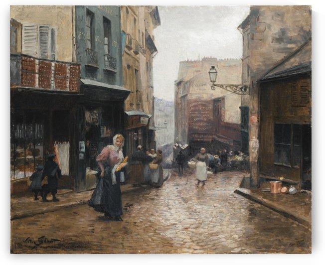 La rue de la montagne Ste Genevieve, Paris by Victor Gilbert