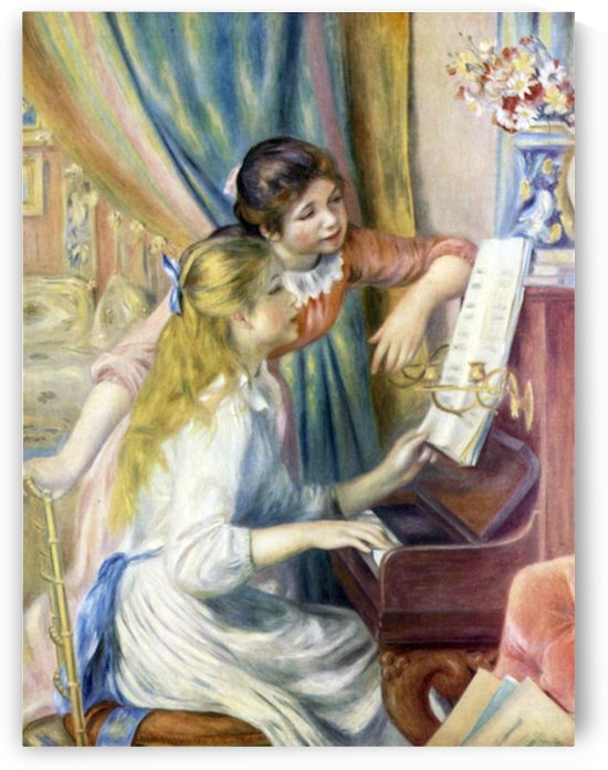Young girls at the piano -3- by Renoir by Renoir