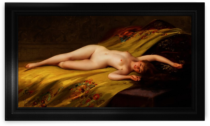 Reclining Nude Sensual Beauty by Luis Ricardo Falero Classical Art Xzendor7 Old Masters Reproductions by xzendor7