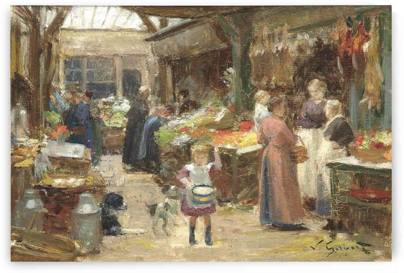 A French food market by Victor Gilbert