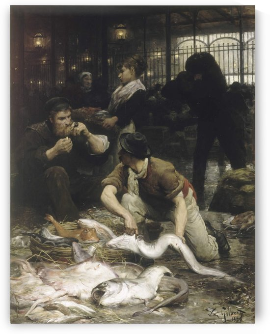 The fish market by Victor Gilbert