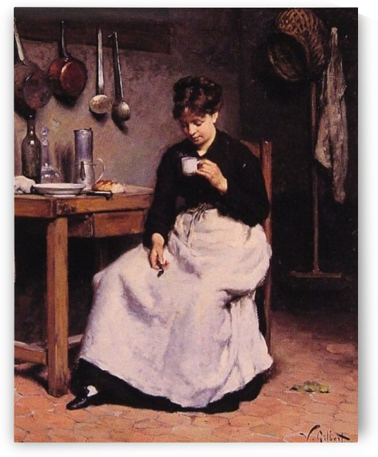 A Cup of Coffee by Victor Gilbert