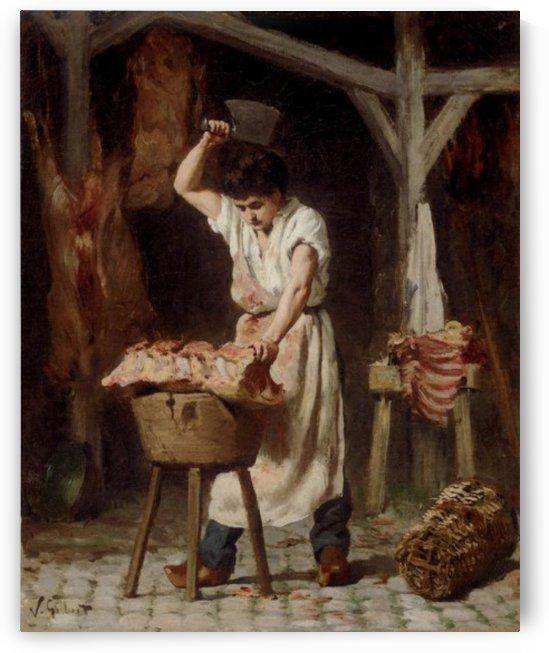 Ein junger Metzger by Victor Gilbert