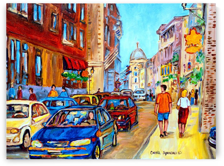 OLD MONTREAL IN SUMMER AUX DELICES DE LERABLE  RUE ST PAUL by Carole  Spandau