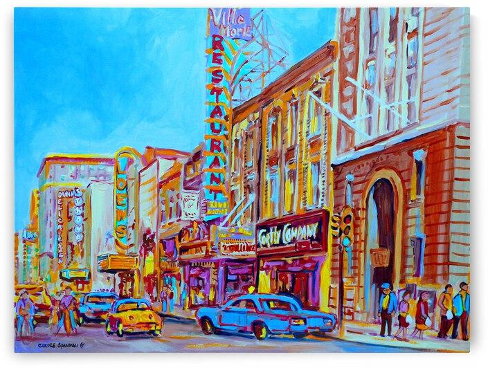 MONTREAL RUE STE. CATHERINE VINTAGE SUMMER STREET SCENE by Carole  Spandau