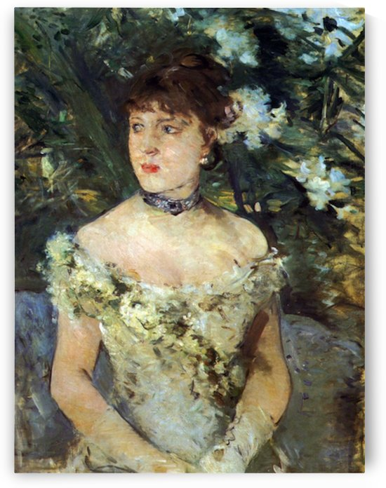 Young woman in a costume ball by Morisot by Morisot