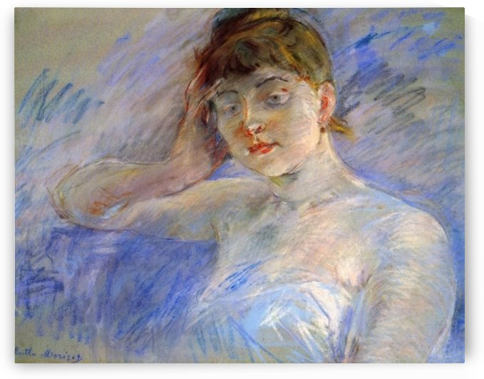 Young woman in white by Morisot by Morisot