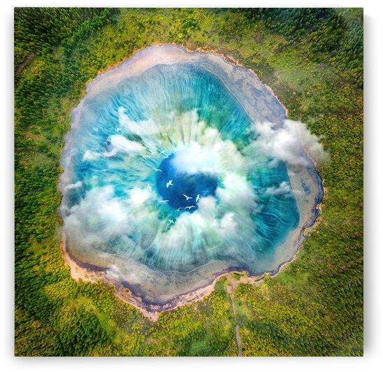 Dream Art XIX Surreal Eye Lake by Art Design Works