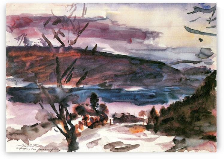 Walchensee -1- by Lovis Corinth by Lovis Corinth