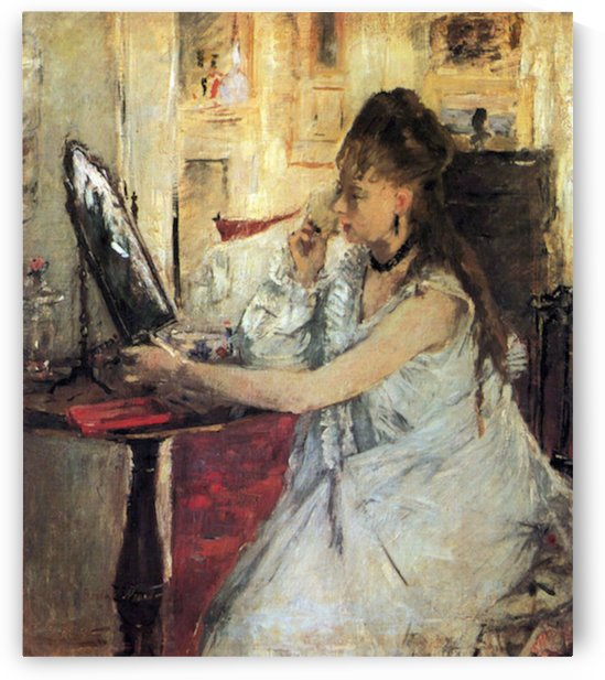 Young woman powdering her face by Morisot by Morisot