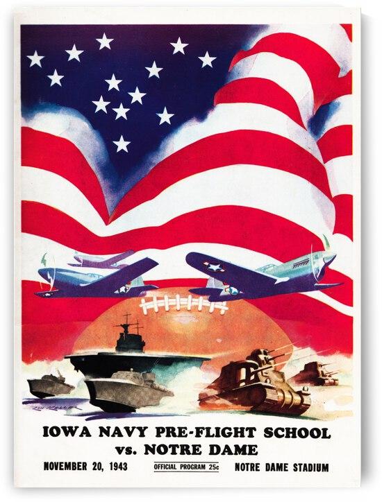 1943 Notre Dame vs. Iowa Pre-Flight by Row One Brand
