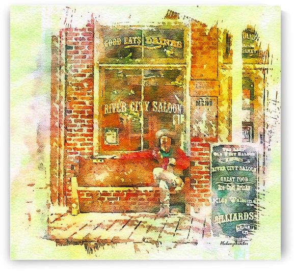 Old Sacramento Boardwalk - River City Saloon by Aurelia Schanzenbacher Sisters Fine Arts
